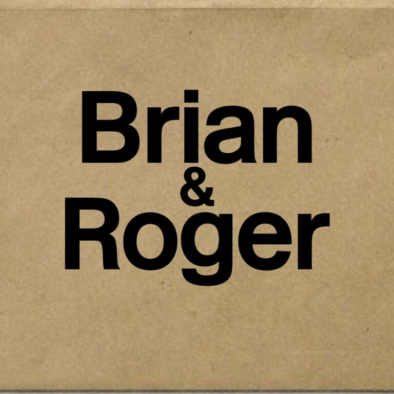 Brian and Roger. Series 1 beginning Friday 19th October 2018